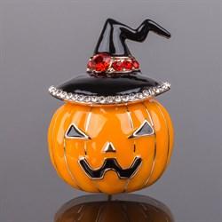 Брошь  Halloween  Эмаль, Хрусталь 25*35мм. арт. 048337 /Бижутерный сплав/ Импортер: ИП Ермошенков А.М. Радуга самоцветов - фото 18981