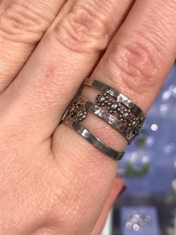 Кольцо MVR1329G, Серебро 925 пробы,маломерит на 1 размер. импортер ИП Мохин Г.В. Производство ИЗРАИЛЬ (вес около 4.4 г) - фото 25329