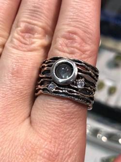 Кольцо, арт. MVR1458LB, Серебро 925 пробы, идет на 18 размер, импортер ИП Мохин Г.В. Производство ИЗРАИЛЬ (Вес около 9 г) - фото 41822