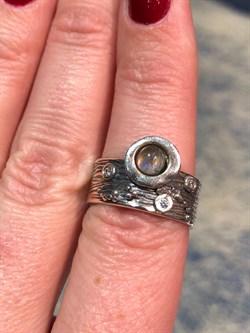 Кольцо, арт. MVR1520LB-259, Серебро 925 пробы, маломерит на 1 размер. импортер ИП Мохин Г.В. Производство ИЗРАИЛЬ (Вес около 6,11 г.) - фото 47537