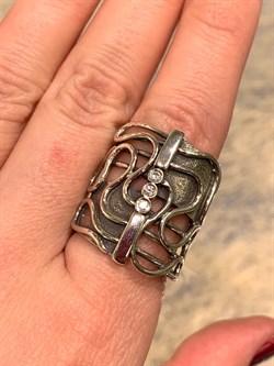 Кольцо, арт. MVR1346CZ, Серебро 925 пробы, DENO Производство ИЗРАИЛЬ (Вес около 11,78 г.) - фото 60926
