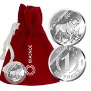 Монета арт. 9300409024, Серебро 925 пробы, KRASNOE Производство РОССИЯ (вес около 2-3 г)