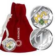 Монета арт. 9362409025, Серебро 925 пробы, KRASNOE Производство РОССИЯ (вес около 2,7 г)