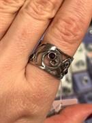 Кольцо, арт. 01R098GR, Серебро 925 пробы, импортер ИП Мохин Г.В. Производство ИЗРАИЛЬ (Вес около  6,55 г)