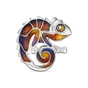 Брошь арт. 04-1354/0ЭМ7-00, Серебро 925 пробы, Ювелирная Фабрика Алькор Россия (вес около 6,8-7,1 г)