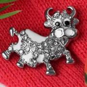 """Брошь: """"Корова веселая"""" арт. 57676 /Бижутерный сплав/ Импортер: Мадам Брошкина."""