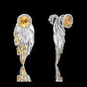 Серьги арт. 02-4721-00-206-0200-68, Серебро 925 пробы, производитель ООО ТД Платина Кострома. Россия. (вес около 6,6-6,8 г)