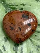 Сердце из камня Обсидиан. арт. 64858 Импортер: ИП Ермошенков А.М. Радуга самоцветов.