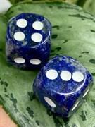 Кубики игральные из Лазурита(15мм) (2шт) (Афганистан) арт. 078998-3, Импортер: ИП Ермошенков А.М. Радуга самоцветов
