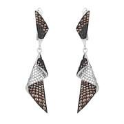 Серьги арт. MP-E00981-X-WB-DB-X-W, Серебро 925 пробы, Fresh Jewelry производство ГОНКОНГ (вес около 7,9-8 г)