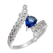 Кольцо арт. CZ-R02128-X-W-SAP-X-W, Серебро 925 пробы, Fresh Jewelry производство ГОНКОНГ (вес около  2,7 г)