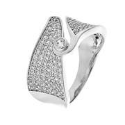 Кольцо арт. MP-R01333-X-W-W-X-W, Серебро 925 пробы, Fresh Jewelry производство ГОНКОНГ (вес около 5,6 г)