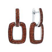 Серьги арт. MP-E01516-X-WB-X-X-Or, Серебро 925 пробы, Fresh Jewelry производство ГОНКОНГ (вес около 4,9 г)