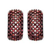 Серьги арт. MP-E00598-X-WB-X-X-DG, Серебро 925 пробы, Fresh Jewelry производство ГОНКОНГ (вес 5,76 г)