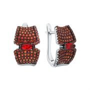 Серьги арт. CZ-E01212-X-WB-RG-X-DG, Серебро 925 пробы, Fresh Jewelry производство ГОНКОНГ (вес 6,05 г)