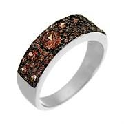 Кольцо арт. SL-R00324-X-WB-DB-X-DB, Серебро 925 пробы, Fresh Jewelry производство ГОНКОНГ (вес 4,4 г)