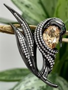 Брошь арт. PD-Br00727-X-B-DCh-X-W, Серебро 925 пробы, Fresh Jewelry производство ГОНКОНГ (вес 9,9 г)