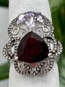 Кольцо арт. AS-R00459-X-W-R-X-Pur, Серебро 925 пробы, Fresh Jewelry производство (вес 6,7 г)