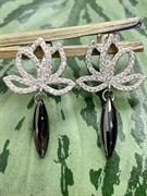 Серьги арт. TC-E01854-B-W-X-X-W, Серебро 925 пробы, Fresh Jewelry производство ГОНКОНГ (вес 2,9 г)