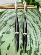 Серьги арт. TC-E1757-1-B-W-X-X-X, Серебро 925 пробы, Fresh Jewelry производство ГОНКОНГ (вес 8,2 г)