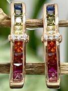 Серьги арт. SL-E1478-3-X-G-W-X-M3, Серебро 925 пробы, Fresh Jewelry производство ГОНКОНГ (вес около 3,7 г)