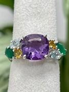 Кольцо арт. AS-R00541-X-W-Pur-X-Gg, Серебро 925 пробы, Fresh Jewelry производство (вес 4,4 г)