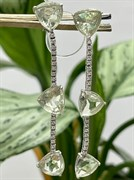 Серьги арт. AS-E06232-X-W-S-X-W, Серебро 925 пробы, Fresh Jewelry производство (вес 6,8 г)