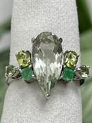 Кольцо арт. AS-R11031-X-W-S-X-Gg, Серебро 925 пробы, Fresh Jewelry производство ГОНКОНГ (вес около 2,9 г)