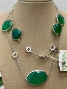 Колье арт. SO-N00587-X-W-Gg-X-X, Серебро 925 пробы, Fresh Jewelry производство ИТАЛИЯ (вес 18,88 г)