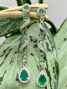 Серьги арт. AS-E06330-X-W-ME-S-W, Серебро 925 пробы, Fresh Jewelry производство ИНДИЯ (вес 6,73 г)