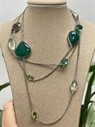 Колье арт. SO-N00831-X-W-Gg-X-BR-949, Серебро 925 пробы, Fresh Jewelry производство (вес 23,15 г)