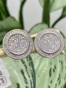 Запонки арт. MP-Cu0002-X-W-X-X-W, Серебро 925 пробы, Fresh Jewelry производство ГОНКОНГ (вес 9,5 г)