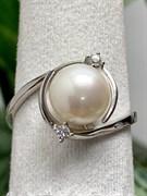 Кольцо арт. PI-R02529-X-W-W-X-W, Серебро 925 пробы, Fresh Jewelry производство (вес около 3,1-3,3 г)