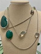 Колье арт. SO-N00801-X-W-Gg-X-Mix, Серебро 925 пробы, Fresh Jewelry производство (вес 23,4 г)